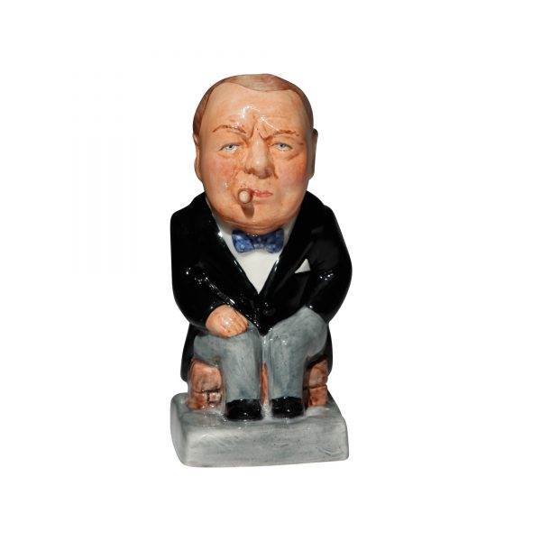 Winston Churchill Toby Jug - (Black jacket and grey pants) - Bairstow Manor Collectables