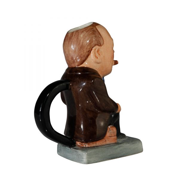 Winston Churchill Toby Jug - (Brown jacket and black pants) - Bairstow Manor Collectables