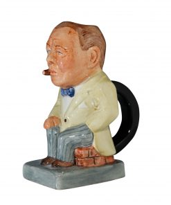 Winston Churchill Toby Jug - (Yellow jacket and grey striped pants) - Bairstow Manor Collectables