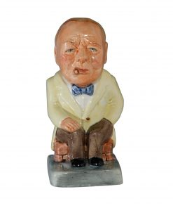 Winston Churchill Toby Jug - (Yellow jacket and brown pants) - Bairstow Manor Collectables