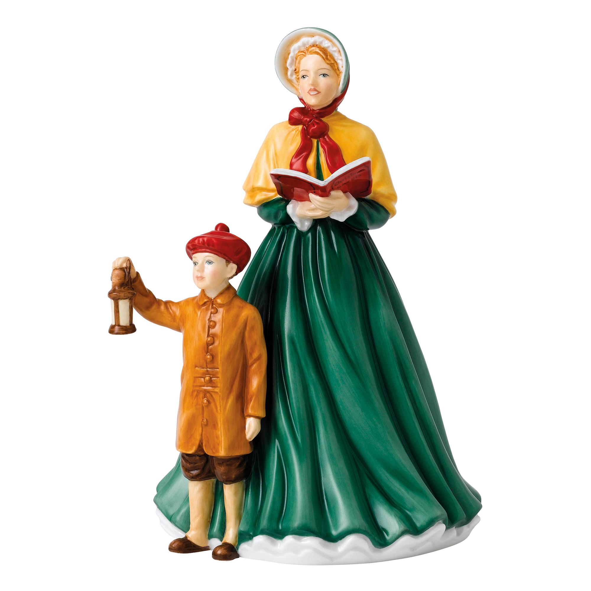 Christmas Carol Singers Figurines.Here We Come A Caroling Hn5888 Royal Doulton Figurine