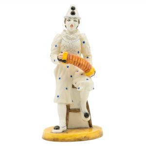 White Faced Serenade Clown - Coalport Figurine