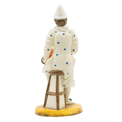 White Faced Serenade Clown - Coalport Figurine