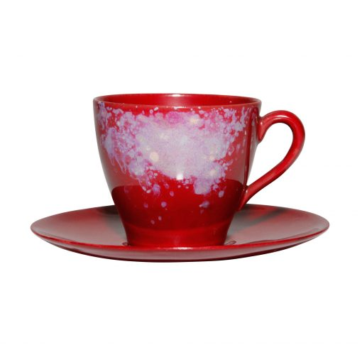 Coffee Cup and Saucer Small - Royal Doulton Flambe