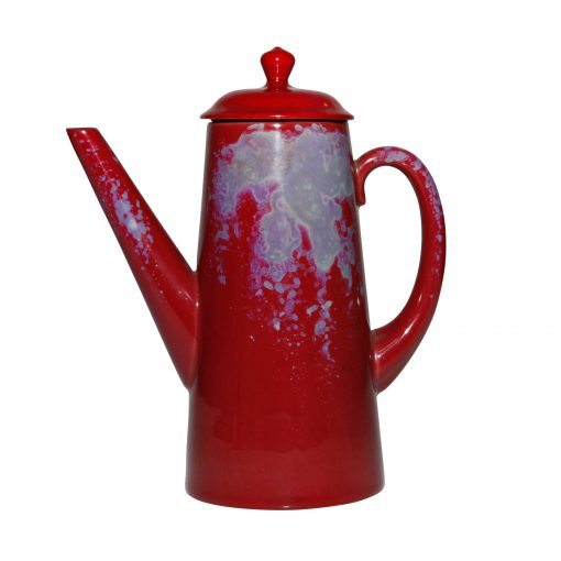 Coffee Pot with Lid - Royal Doulton Flambe