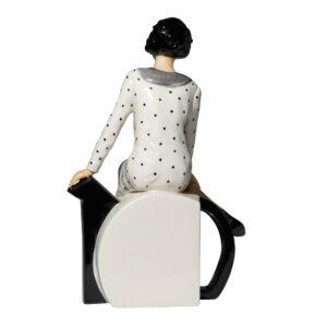 Clarice Teatime Seated - Peggy Davies Figurine