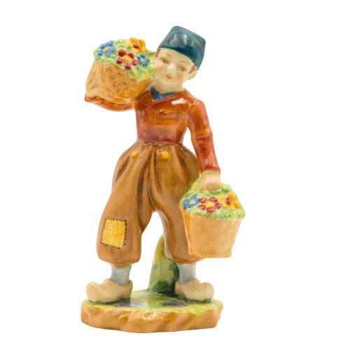 Dutch Boy Orange Jacket RW2923 - Royal Worcester Figurine