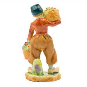 Dutch Boy Orange Jacket RW2923 - Royal Worcester Figurine
