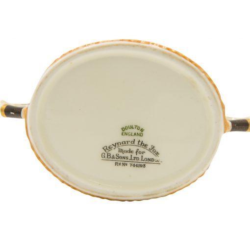 Reynard Fox Sugar Silver Rim - Royal Doulton Seriesware