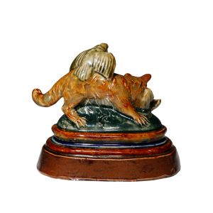 Cat and Sparrows - Tinworth Figurine