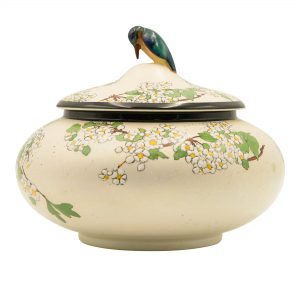 Bowl with Hummingbird on Lid
