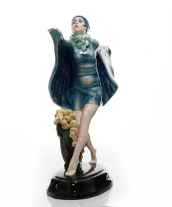 Captured Bird Blue Wings - Goldscheider Figure