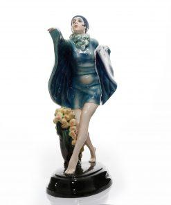 Captured Bird Blue Wings - Goldscheider Figure
