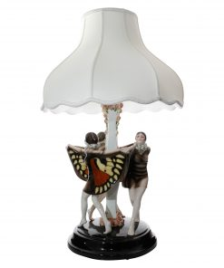 Captured Bird Lamp Three Girls - Goldscheider Figure