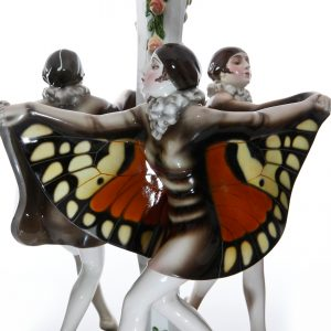 Captured Bird Lamp Three Girls - Goldscheider Figure