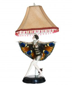 Captured Bird Lamp with Girl - Goldscheider Figure
