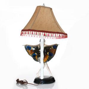Captured Bird Lamp with Girl - Goldscheider Figure