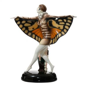 Captured Bird Monarch Wings - Goldscheider Figure