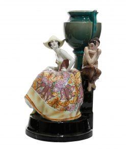 Vase Girl with Satyr - Goldscheider Figure