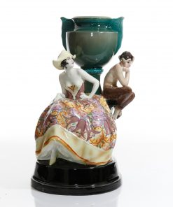 Vase Girl with Satyr - Goldscheider Figure