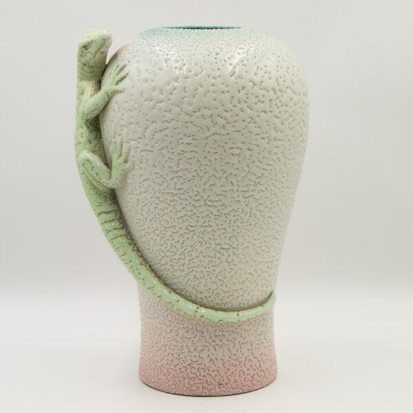 Carltonware Vase Green Lizard Seaway China Company