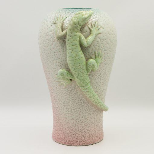 Carltonware Vase Green Lizard