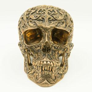 Bronze Skull Floral