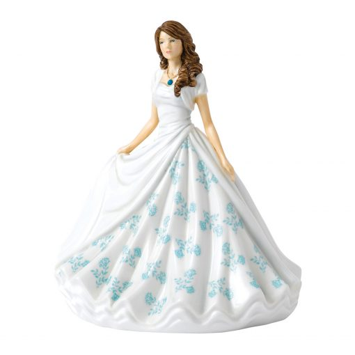 December (Turquoise) HN5908 Royal Doulton Figurine