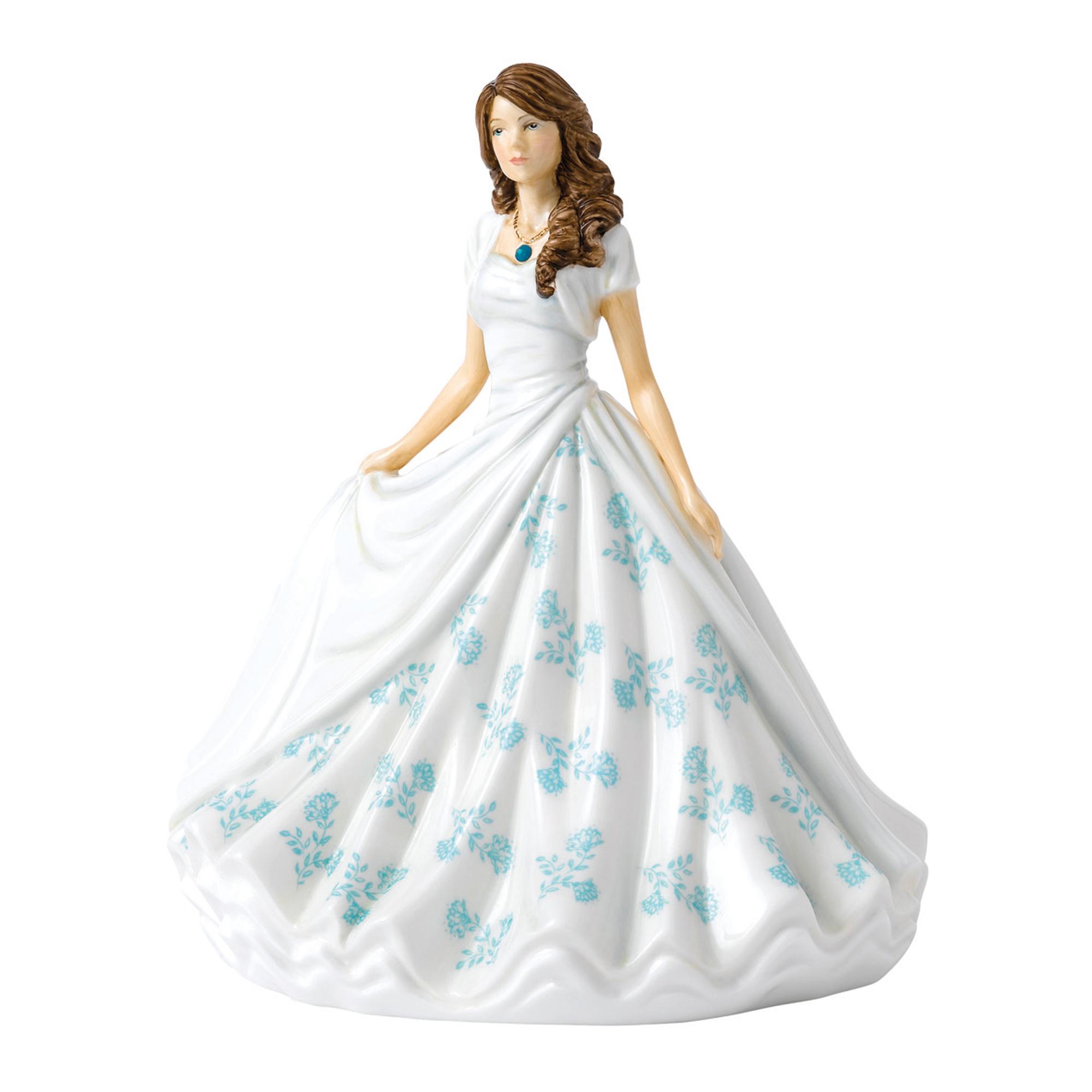 December (Turquoise) HN5908 Royal Doulton Figurine