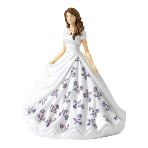 February (Amethyst) HN5898 Royal Doulton Figurine