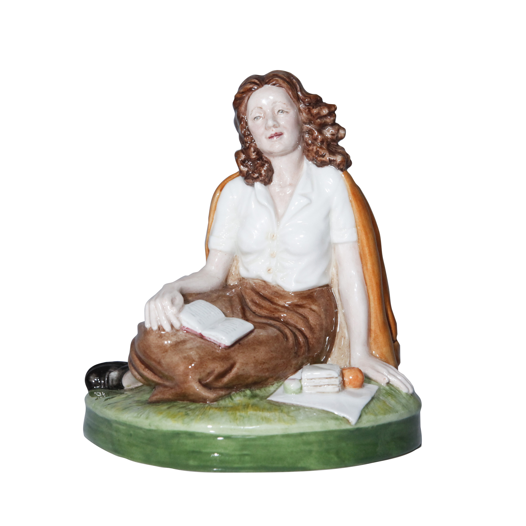 Woman Having a Picnic (Prototype)  Royal Doulton Figurine