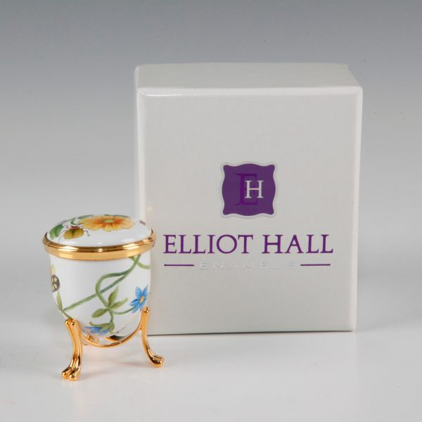 Elliot Hall Enamel Acorn Box Bugs Life With Brass Stand