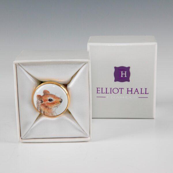 Elliot Hall Enamel Box Chiipmunk