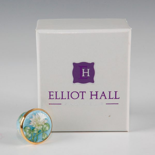 Elliot Hall Enamel Box Clovers