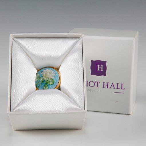 Elliot Hall Enamel Box Clovers