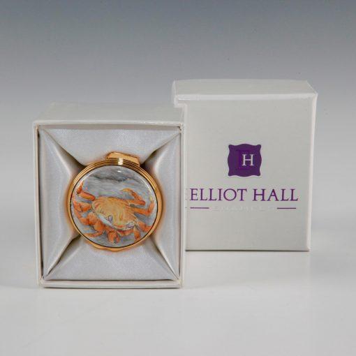 Elliot Hall Enamel Box Crab
