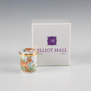 Elliot Hall Enamel Box Fox