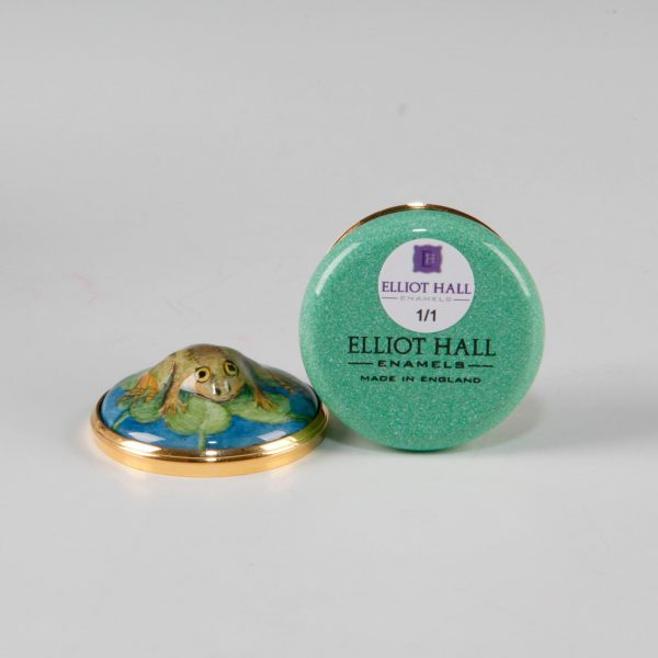 Elliot Hall Enamel Box Frog