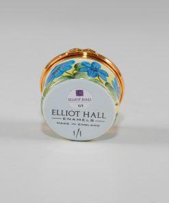 Elliot Hall Enamel Box Hepatica Flowers