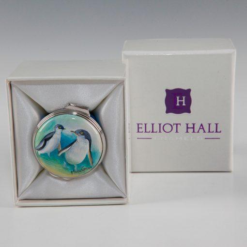 Elliot Hall Enamel Box Little Penguins