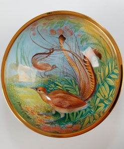 Elliot Hall Enamel Bowl Lyre Birds