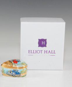 Elliot Hall Enamel Heart Box Model T Ford Automobiles