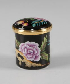 Elliot Hall Enamel Box Oriental Flowers
