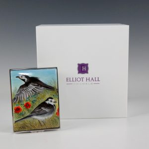 Elliott Hall Enamel Box Pied Wagtail Bird