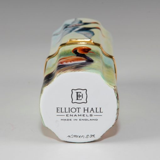 Elliot Hall Enamel Cylinder Box Red Crested Pochard