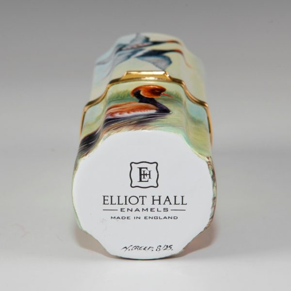Elliot Hall Enamel Cylinder Box Red Crested Pochard