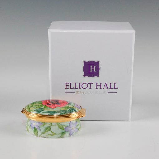 Elliot Hall Enamel Oval Box Summer Borders