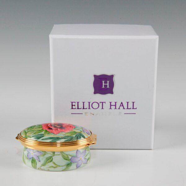 Elliot Hall Enamel Oval Box Summer Borders