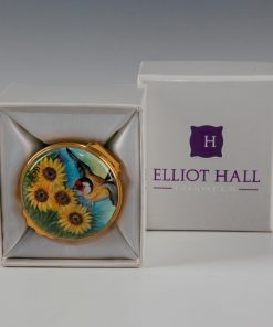 Elliott Hall Enamel Box Sunflower Fields