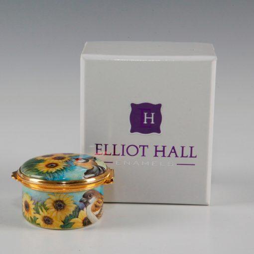 Elliott Hall Enamel Box Sunflower Fields
